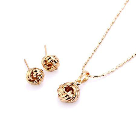 2018 Fashion Jewelry Set Round 18k Yellow Gold Jewelry Set18k