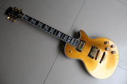 Wholesale Guitar Ebony Gold - Supreme Model ebony fingerboard fretside binding Electric Guitar gold top goldtop