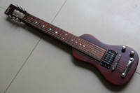 Solid Body 6 Strings Mahogany Lap Steel Guitar Live Hawaiian wooden Chinese Guitar 20130128