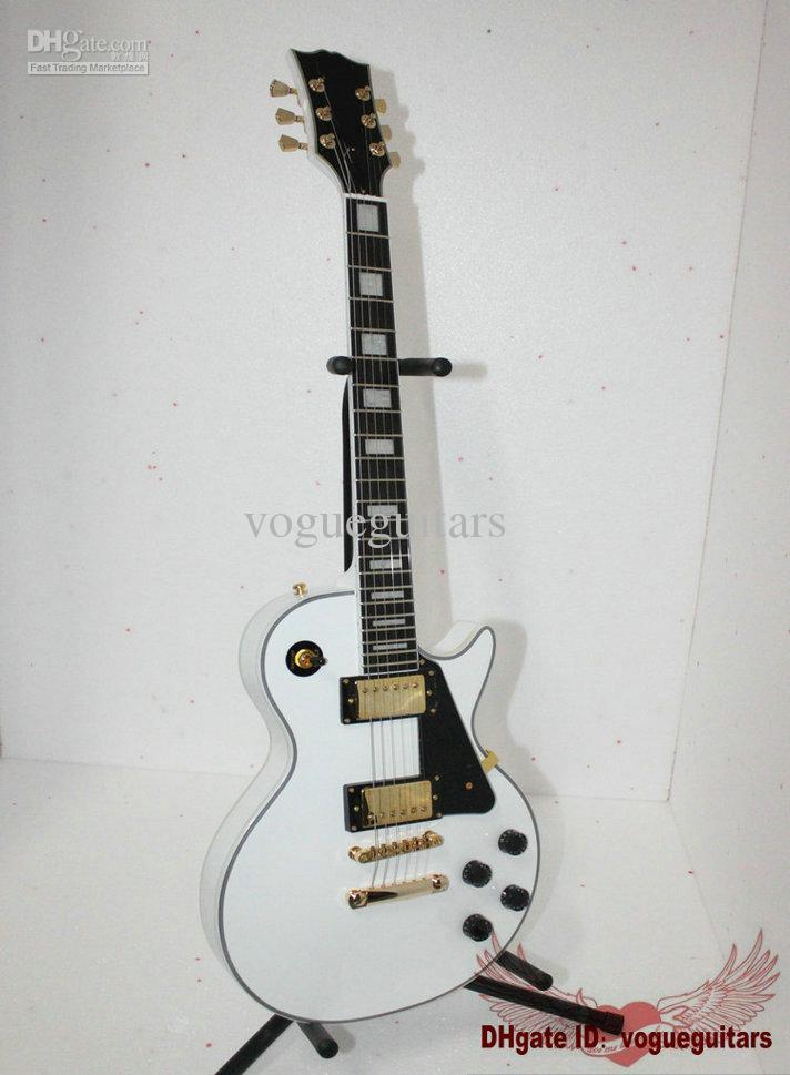 Gratis verzending Nieuwe Collectie Witte Custom 1958 Elektrische Gitaar Ebony Fingerboard A77