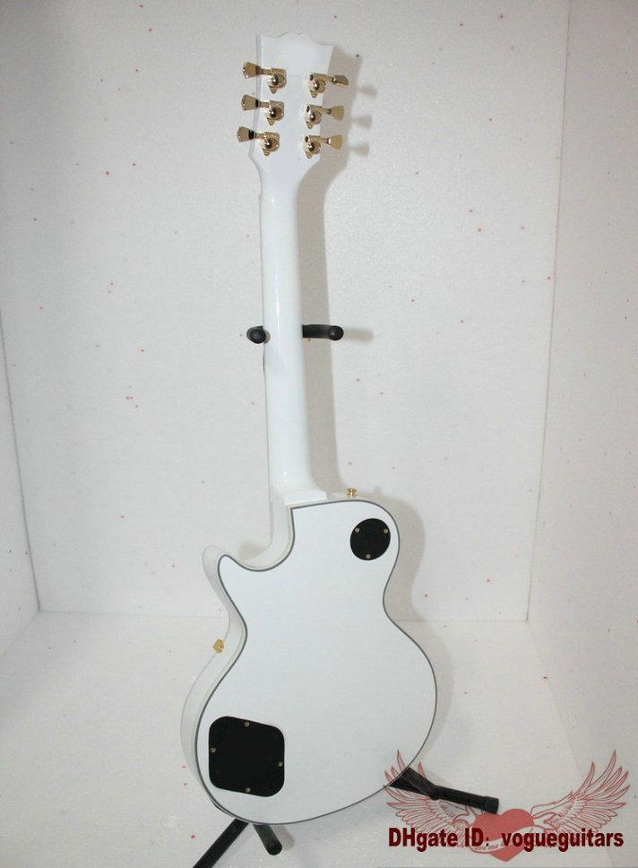 Gratis frakt Ny ankomst Vit Custom 1958 Elektrisk gitarr Ebony Fingerboard A77