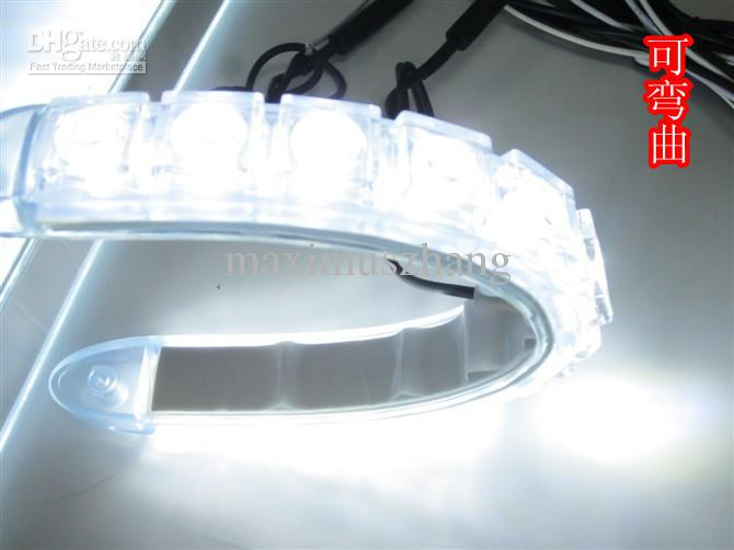 2x flexible 12 led light bar auto drl lens led lights strip 2x flexible 12 led light bar auto drl lens led lights strip waterproof universal car daytime aloadofball Image collections