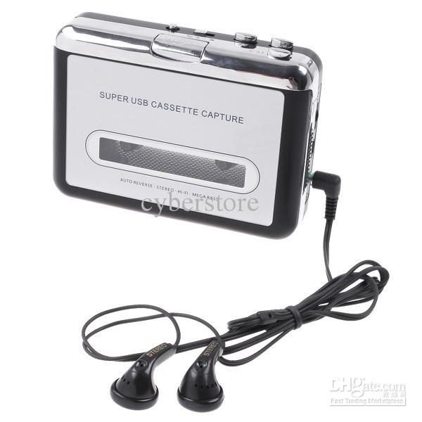 Portable Cassette Audio Music Player Tape-To-MP3 USB Cassette to MP3 Converter