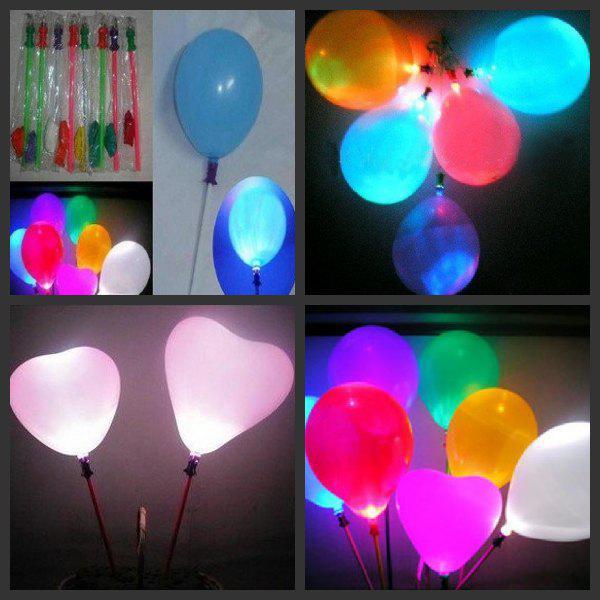 50 pcs lotes de Presente de Natal LED Balão Balão Piscando Balão de Iluminação Brinquedos Fontes Do Partido