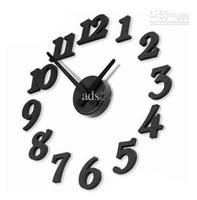 Wholesale Time Design Diy Clock - Wholesale - New DIY Modern Time Design Wall clock decor Room black