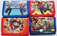 Wholesale Mario Wallets - New Lot 12 pcs Super Mario wallet purses gift bags Party Favor