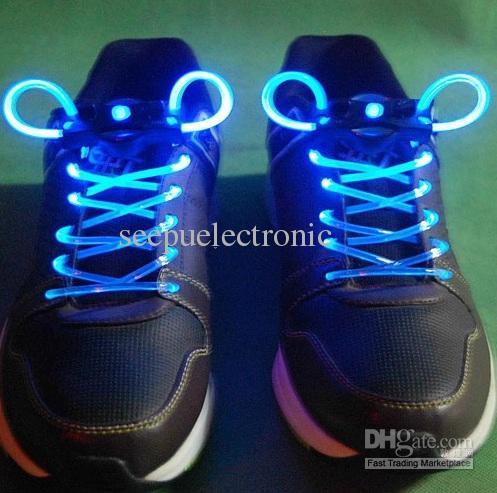LED Light Up Flash Glow Shoelaces Lampade da discoteca da discoteca Bastone da battere