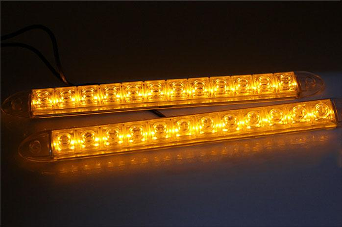 2x 12 led flexible light strip with turning yellow amber light auto drl lens led lights universal car led drl daytime running lights led drl kits from 2x 12 led flexible light strip with turning yellow amber light auto drl lens led lights aloadofball Choice Image