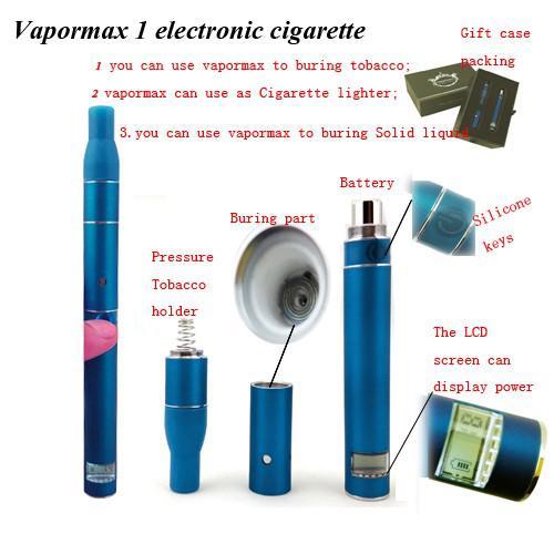 Ego New Product 2013 Vapormax Dry Herb Vaporizer Burning With Lcd Screen  Electronic Cigarette Blue The Vape Kit Vape Mod Starter Kits From  Kingzhou2013, ...