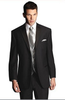Wholesale Tailored Jackets - 2013 Custom-tailor Groom Tuxedos Wool Blend Groomsman Best Man Suits (Jacket+Pants+Tie+Vest) G621