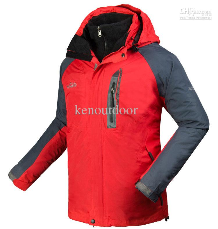 2017 New Mens Outdoor Jacket 2in1 Fleece Ski Hiking Camping Jacket ...