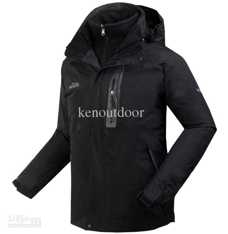 New Mens Outdoor Jacket 2in1 Ski Hiking Camping Jacket ...