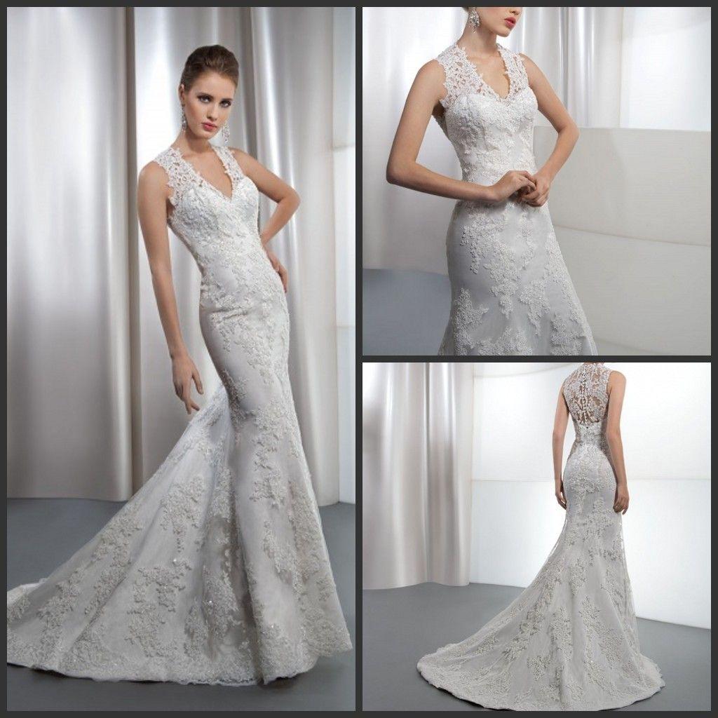 Dimitri Wedding Gowns: 2013 Elegant Mermaid Demetrios Wedding Dresses Lace