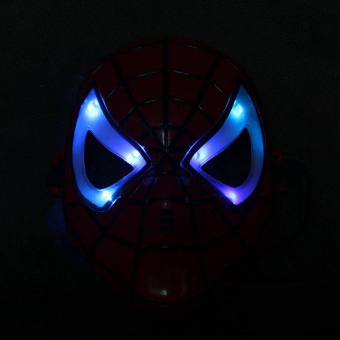 할로윈 빛나는 스파이더 맨 스파이더 맨 블루 마스크 두껍게 어린이 소년 많이 들어 눈을 LED