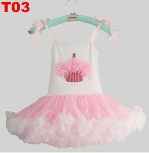 girls pettiskirts cake ballet skirt kid tutu dress lace yarn jumper skirt singlet brace dresses P415