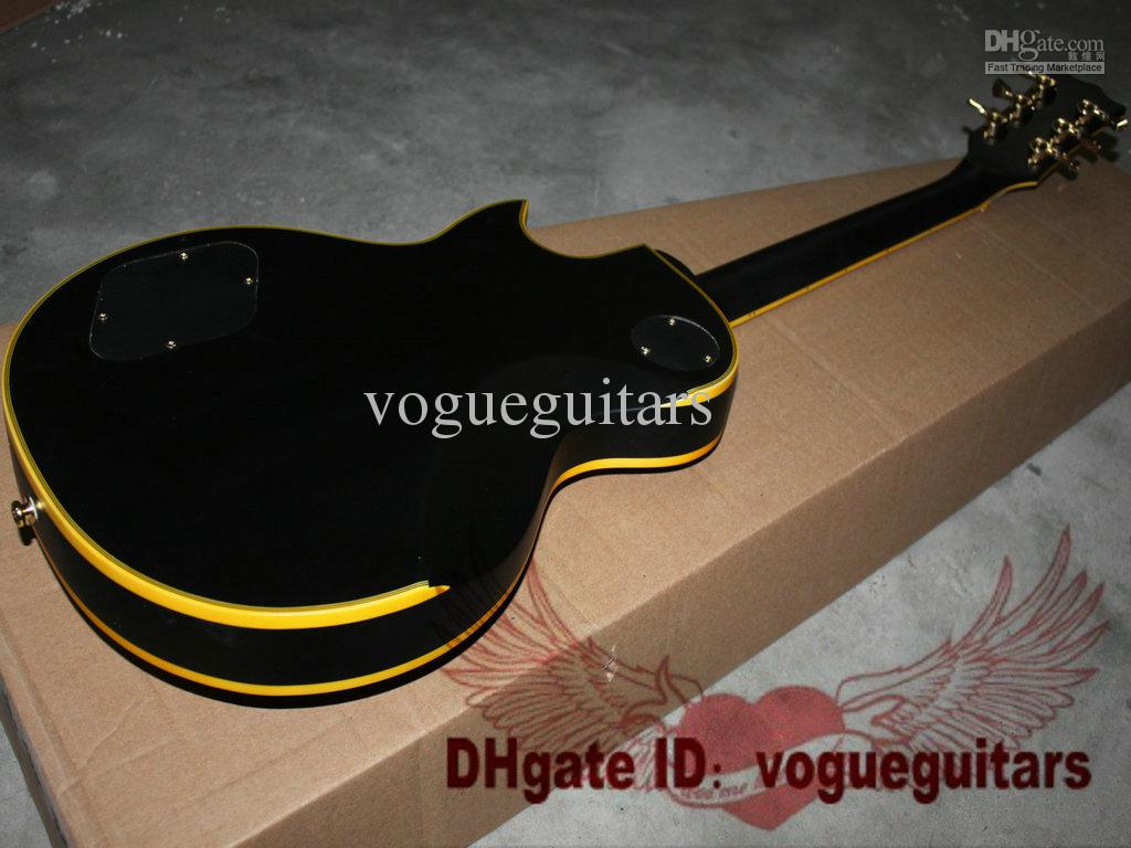 Chitarra elettrica classica su ordinazione dell'oro della chitarra elettrica di Hetfield Iron Cross HOT C10