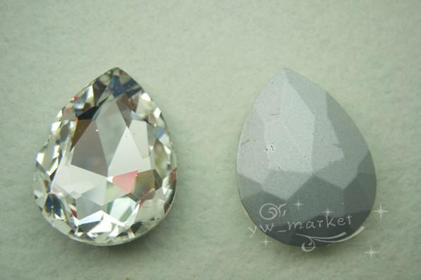 MIC 50 PZ 20mm x 30mm Vetro trasparente strappo goccia sfaccettato gioielli decorazioni di nozze 13020161