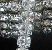 Wholesale Close Trimmer - Hot sell Clear Crystal SS16 Rhinestone Close Chain Trims Silver 5.8 meter Wedding Decorations 13020169
