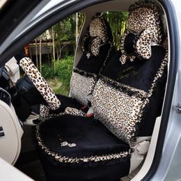 Wholesale Motor Seat Covers - Leopard grain Car seat cover winter plush seating cartoon car set of general motors cloth