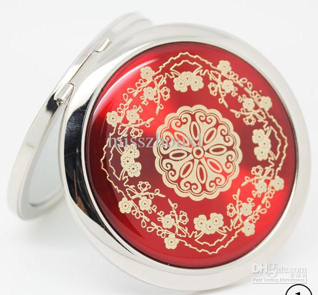 Groothandel -Mixed CD aders Compacte spiegel make-up spiegel bruiloft gunst gepersonaliseerde graveerlogo