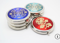 Wholesale Compact Mirrors Engrave - Wholesale -Mixed CD Veins Compact Mirror Makeup Mirror Wedding Favor Personalized Engraving Logo