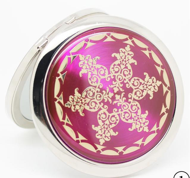 Partihandel -Mixed CD Vener Kompakt Spegel Makeup Spegel Bröllop Favor Personlig Gravyr Logo