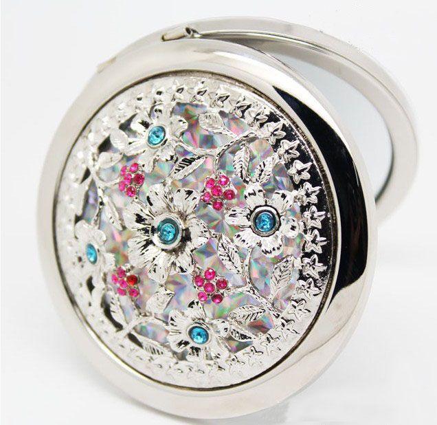 Partihandel - Blandad Metal Diamond Hollowing Makeup Spegel