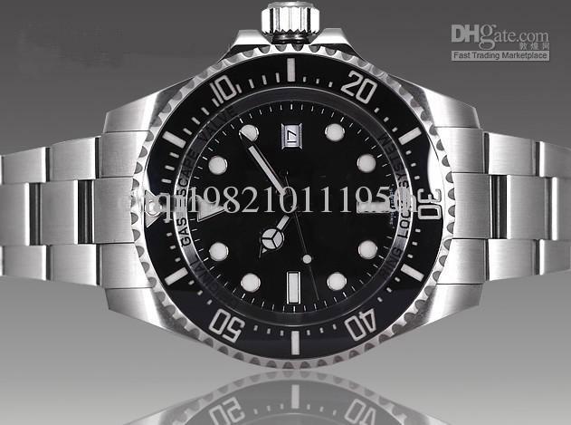 Luxe Black Dail Ceramic Bezel 44mm 116660 Heren Automatische Horloge Heren Roestvrij staal Zware Polshorloge
