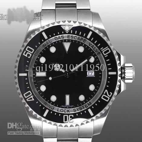 Luxury black dail Ceramic Bezel 44mm 116660 Orologio da uomo automatico Orologio da polso pesante da uomo in acciaio inossidabile