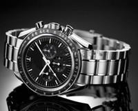 cronógrafo reloj luna al por mayor-Vintage Professional Moon reloj automático para hombre reloj de pulsera de acero inoxidable para hombres sin cronógrafo