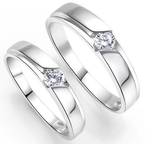 2015 Fashion 925 Silver Diamond Rings Wedding Rings Couple Rings