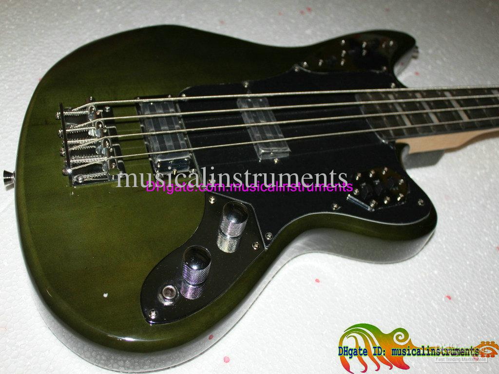 Bass Guitar Newest Green 4 Strings Jaguar Electric Bass
