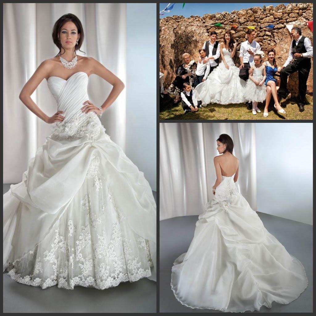 Discount Custom Elegant A Line Demetrios Wedding Dresses ...