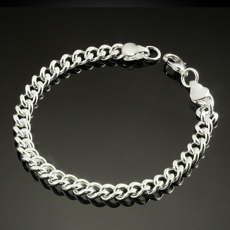 hot male men jewelry bracelets hand chain bracelet 925 sterling silver plated classic bracelets sg gold charm bracelets for women custom charm