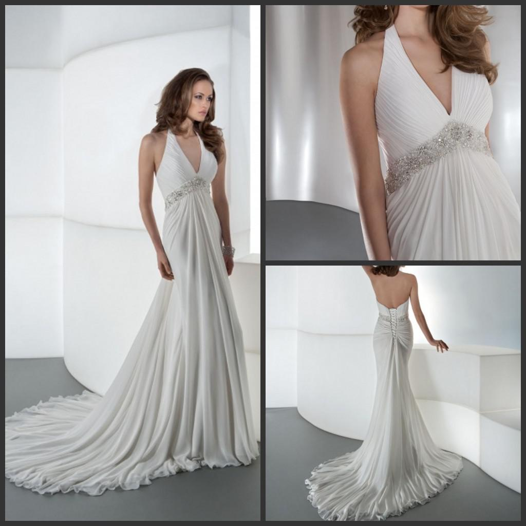 Hot beach summer sexy halter v neck wedding dresses beads chapel beach summer sexy halter v neck wedding dresses beads chapel train chiffon bridal gown lace up lace chiffon wedding dress lace for wedding dress from ombrellifo Image collections