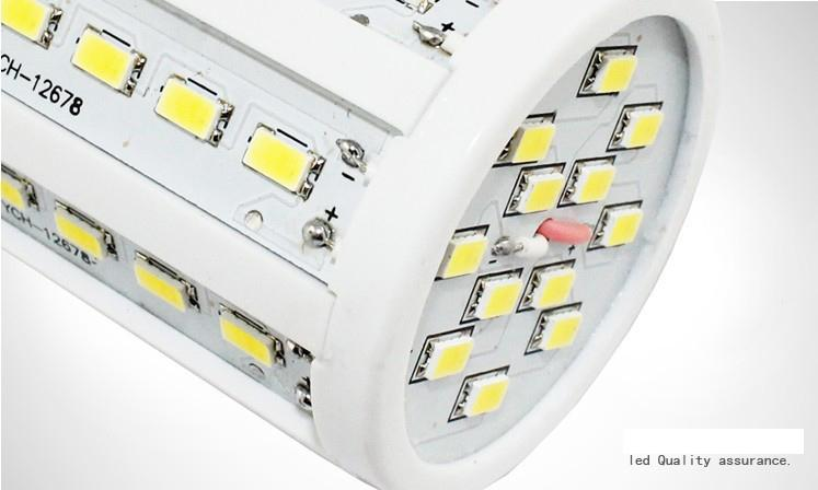 30 stycken LED Corn Bulb Light 15W E27 LED-lampor E14 B22 5630 SMD 60 LED 1800LM Energibesparande ljuslampa 110V-130V 220V-240V hög effekt med DHL