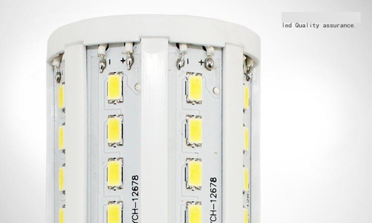 Barato 5 unidades de luz Led Led Corn Light 15W E27 Bombilla LED E14 B22 5630 SMD 60 LED 1800LM Bombillas blancas cálidas y frías 110V - 130V 220V - 240V