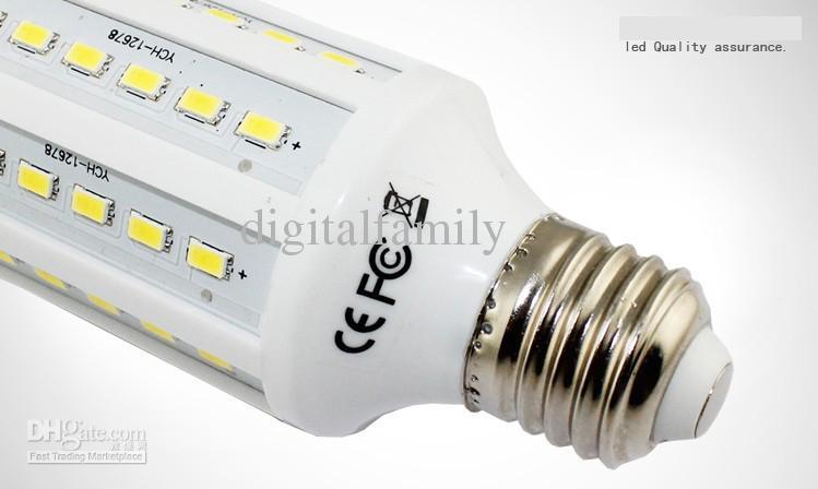 30 unidades led bombilla de maíz 15W E27 bombillas LED E14 B22 5630 SMD 60 LED 1800LM lámpara de luz de ahorro de energía 110V-130V 220V-240V de alta potencia de DHL