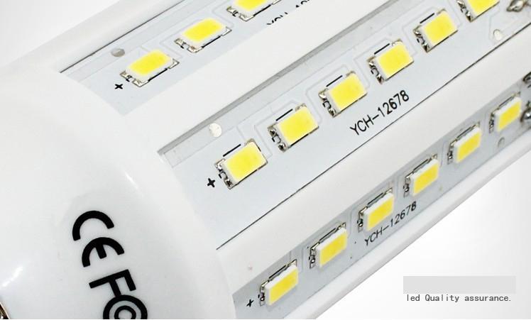30 pièce led ampoule de maïs 15W E27 ampoules LED E14 B22 5630 SMD 60 LED 1800LM lampe à économie d'énergie lampe 110V-130V 220V-240V haute puissance par DHL
