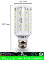 Wholesale Energy Saving Lamp Bulb - 30 Piece led corn Bulb light 15W E27 LED Bulbs E14 B22 5630 SMD 60 LED 1800LM Energy Saving Light lamp 110V-130V 220V-240V high power By DHL