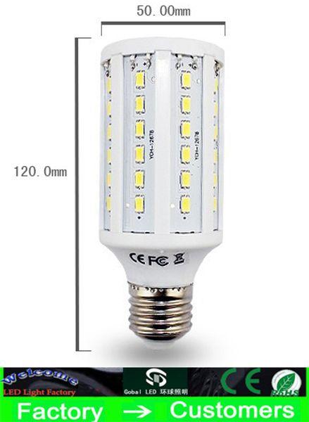 top popular 30 Piece led corn Bulb light 15W E27 LED Bulbs E14 B22 5630 SMD 60 LED 1800LM Energy Saving Light lamp 110V-130V 220V-240V high power By DHL 2020