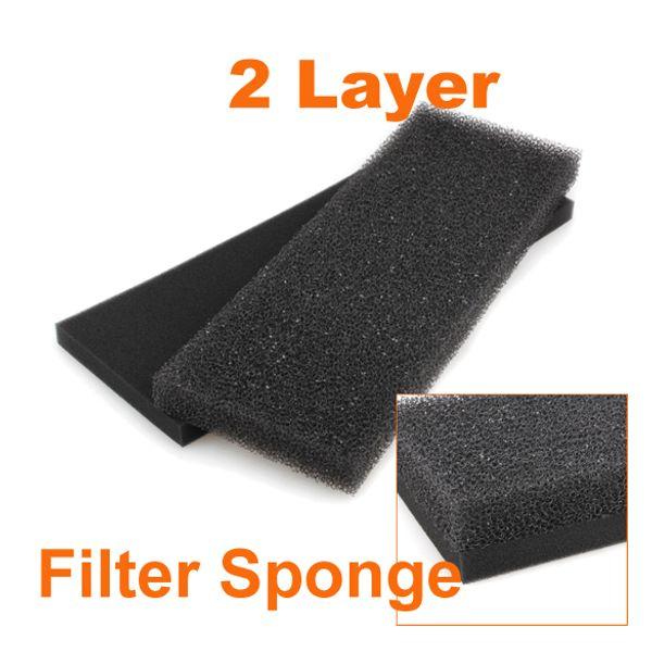 top popular Lowest Pric 50pcs lot Fish Tank Aquarium Fish Tank Biochemical Filter Sponge 2 Layer Useful Foam Pad 2021