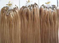 "Wholesale Indian Micro Loop - Loop Micro ring Human Hair Extensions 100% Indian Remy Hair 20"" 22"" 10# Light brown colour 0.8g s 1g s 100g lot AAA Grade Free shipping"