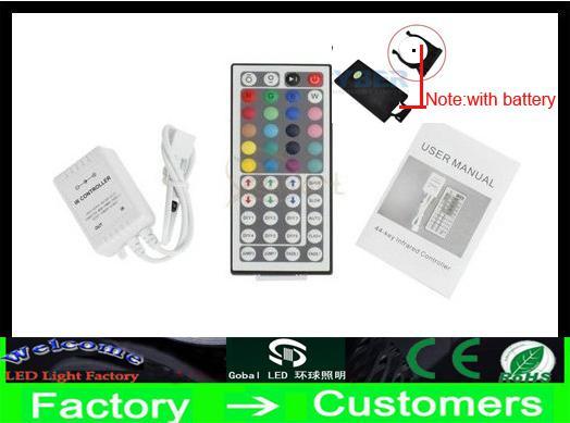 5M RGB 5050 SMD 300 LED LED LED Strip Light avec 44 touches Remote Contrôleur IR non imperméable CE ROSH