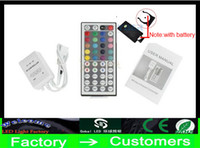 Wholesale cheap light strips - Cheap new 12V 3*2 A 44 Keys LED Controller IR Remote controller for RGB LED Strip Light 3528 SMD 5050 SMD