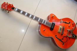 Wholesale China Guitar Hollow - New 6120 1957 Hollow Body Orange electric guitar China Guitar 130205