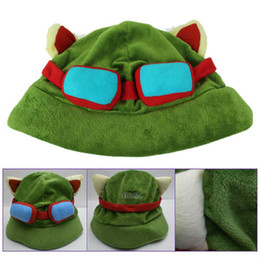 China Hot game League of Legends cosplay cap Hat Teemo hat Plush+ Cotton LOL plush toys Hats Free Shipping cheap teemo lol cosplay suppliers