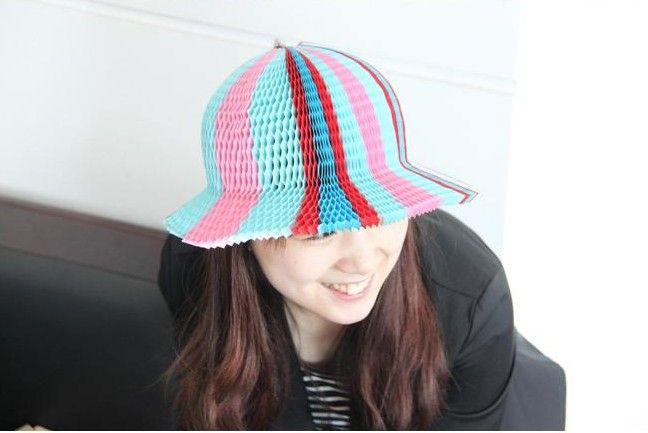 人気のココナッツキャップの花瓶紙帽子帽子帽子折りたたみ帽子紙キャップChrismas装飾200ピース100ピース
