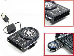 Wholesale Mini Usb Laptop Cooler - Free Shipping New Mini Vacuum USB Case Cooler Cooling Fan For Notebook Laptop