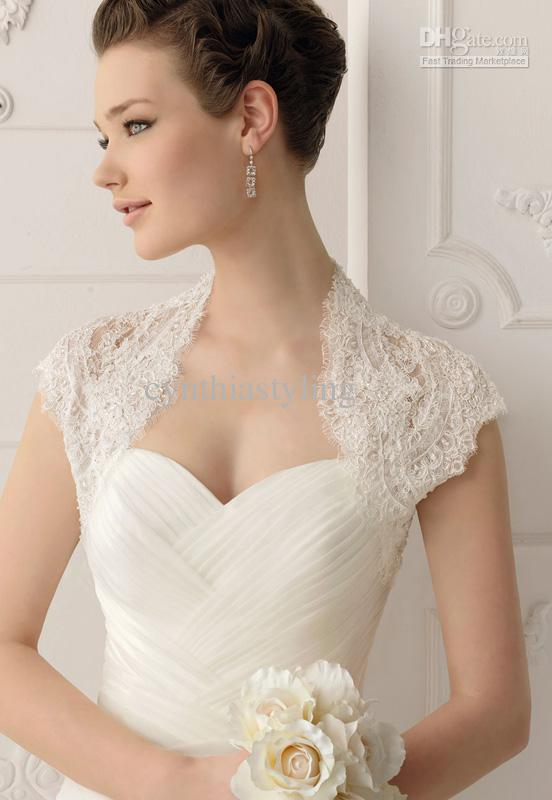 98a7a7b35bce Style No: ACS1208 Lace short sleeves bolero/shrug in many color for wedding  dress or prom gown acs1208